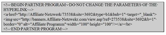 Beispiel für einen alten Programm Code
