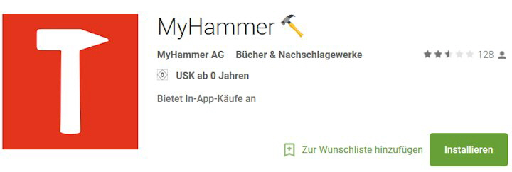 My-hammer App download bei Google Play