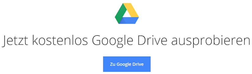 User können Google Drive kostenlos ausprobieren