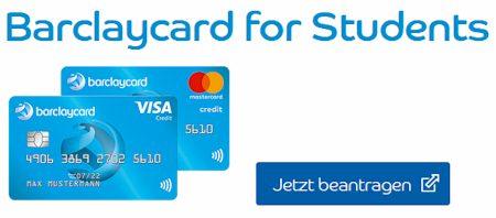 Barclaycard for Students - die Studenten Kreditkarte ist im 1. Jahr kostenlos, ohne Grundgebühr