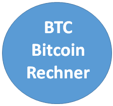 Bitcoin Rechner - berechnen Sie hier aktuelle BTC Kurse
