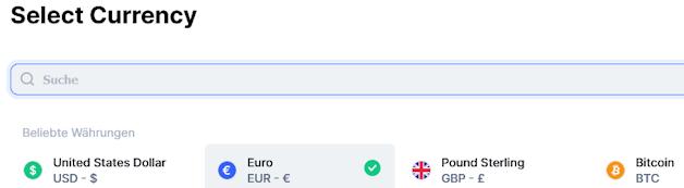 coinmarketcap.com ermöglicht die Anzeige als Ethereum Kurs Dollar oder einer anderen Währung