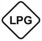 LPG ist das Symbol und die Kraftstoffkennzeichnung für Flüssiggas