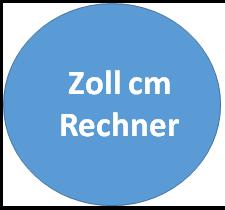 Zoll in cm Rechner - hier können Sie online die Umrechnung von cm in Zoll und Zoll in cm durchführen