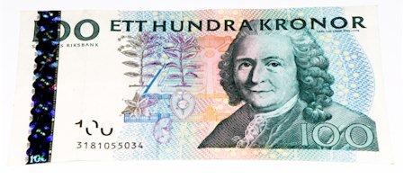 100 Schwedische Konen Banknote