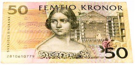50 Schwedische Konen Banknote