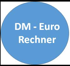 Eurorechner - für die DM Euro und Euro DM Umrechnung zum Umrechnungskurs von 1 EUR = 1,95583 DEM