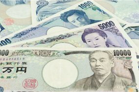 Japanische Banknoten Yen