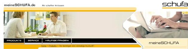 Aus www.meineschufa.de kann die kostenlose Selbstauskunft beantragt werden